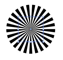 イラレ 集中 線