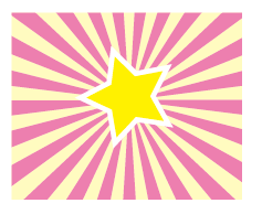 日の出・集中線の描き方【Illustrator】