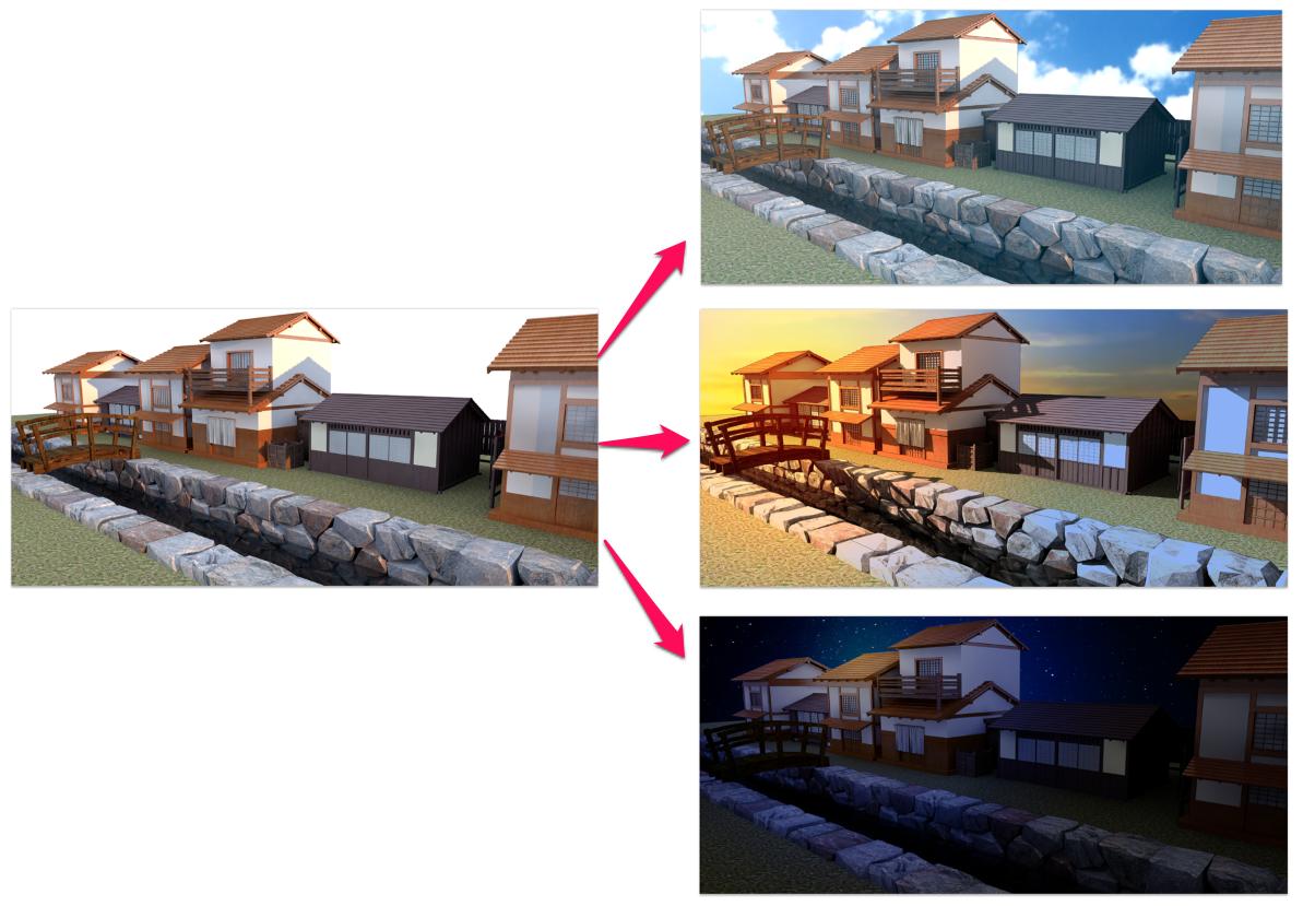 SketchUpでレンダリングした画像をイラストっぽく加工する【Photoshop】