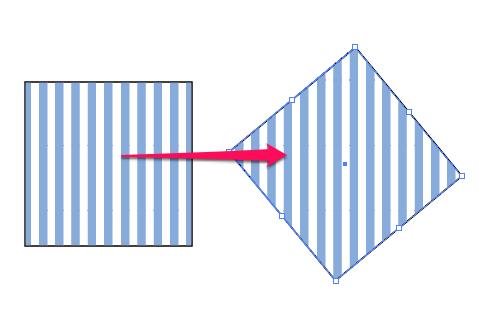 パターンごとオブジェクトを回転したい【Illustrator】